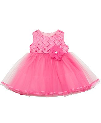 Rare Editions Baby Girls&39 Woven-Bodice Special Occasion Dress ...