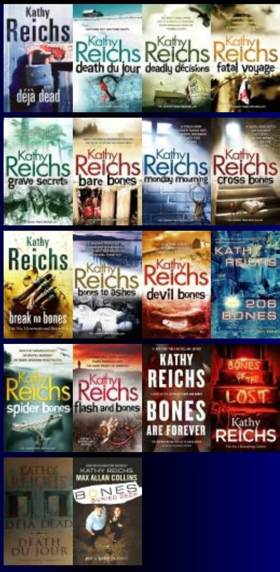 Kathy Reichs: Temperance Brennan Series. Move over Patricia Cornwall, your crown has been taken!