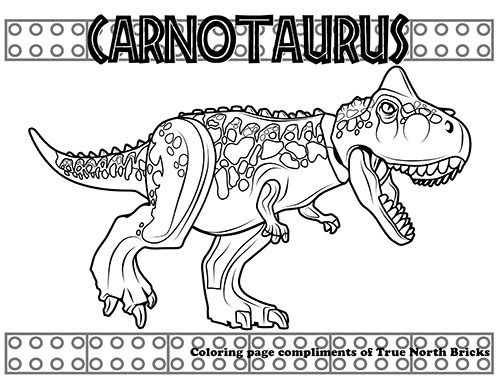 Coloring Page Carnotaurus True North Bricks Dinosaur Coloring Pages Lego Coloring Pages Dinosaur Coloring
