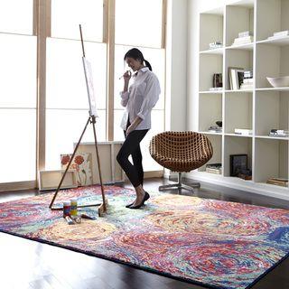 Skye Monet Fiesta Rug (7'7 x 10'5) | Overstock.com Shopping - Great Deals on Alexander Home 7x9 - 10x14 Rugs