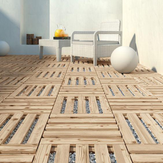 Suelos de exterior sin obras ideal para jardines o - Suelos para banos sin obra ...