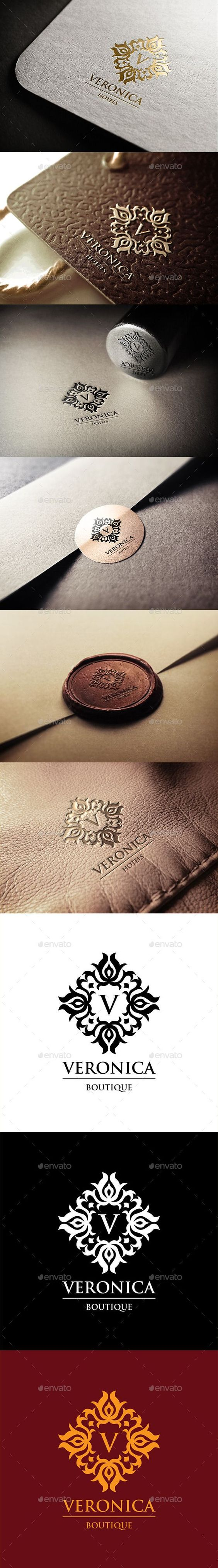Veronica Hotels Logo - Crests Logo Templates