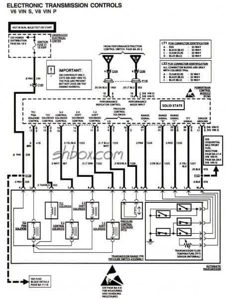 4l60e Wiring Schematic Transmission Repair Diagram Safety Switch