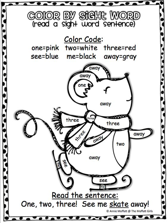 Winter Color by Sight Word Sentences