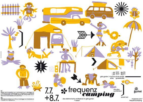 schichten + ordnen > plakat frequenzcamping Katja Schwalenberg