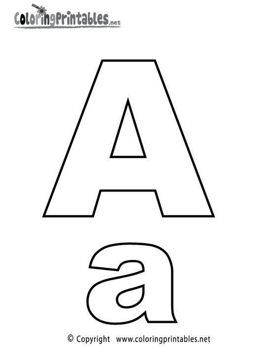 Alphabet Letter A Coloring Page