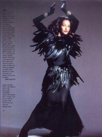 Chanel 1985 Feathers Dress Photo Hiro
