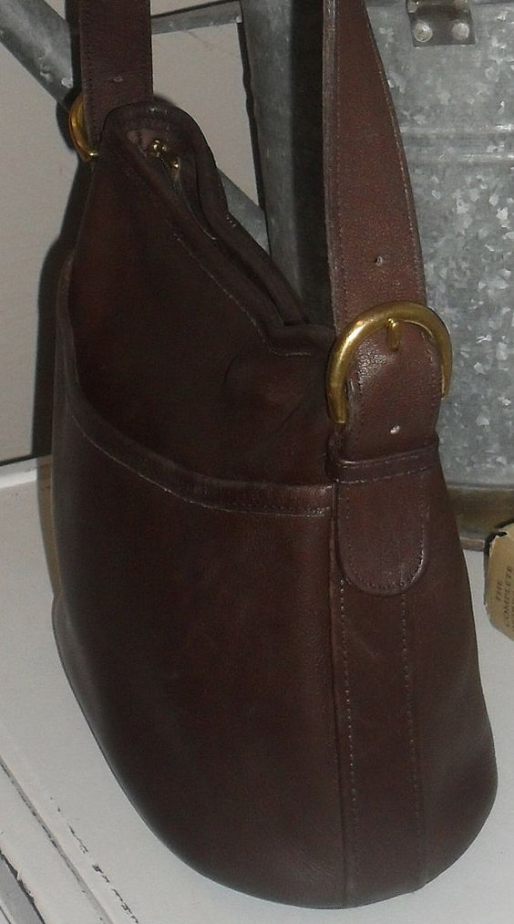 BEAUTIFUL Thick Vintage COACH Chocolate  Brown by cafarellajen, $63.99