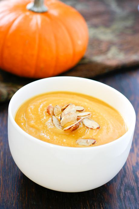 Apple Pumpkin soup.  Perfect!!  I have a *ton* of apples and some extra cans of pumpkin right now...  - Made this 11/11: very good, very mild flavor.  Good as is, or would also be good with more seasoning