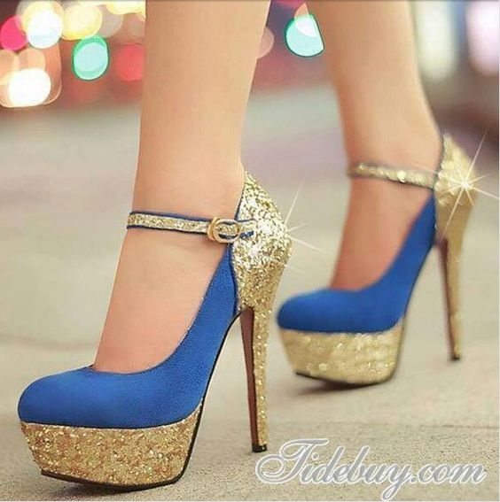 Blue & Gold... cute and shiny