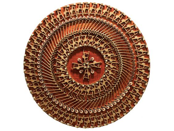 Carol cole 39 s mesmerizing steinway mandala is made from for Art made with keys