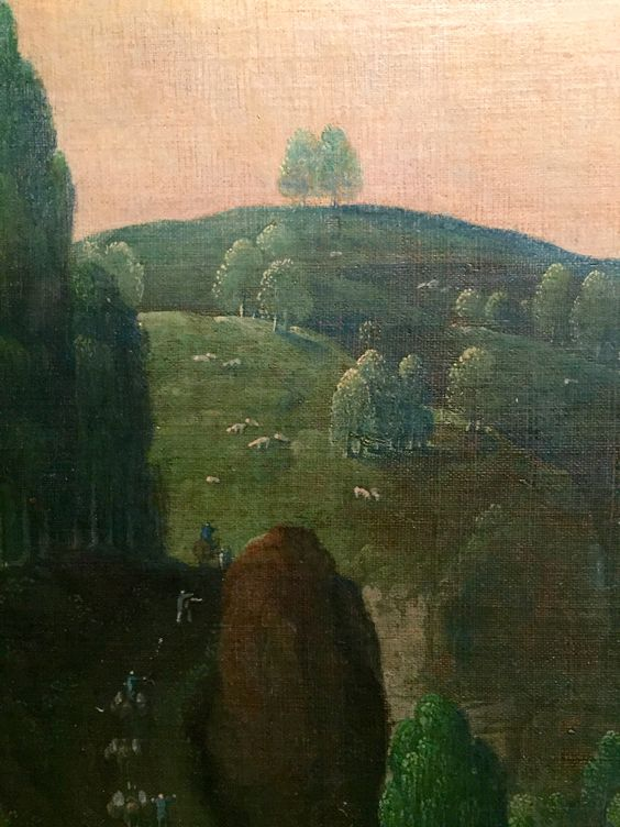 hans bol-detail of valley of the meuse with apollo & daphne 1578