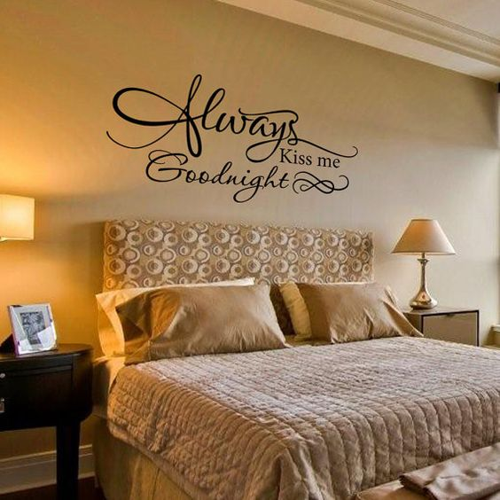 Wall Decal Always Kiss Me Goodnight Romantic By Grabersgraphics Bedroom Ideas Pinterest