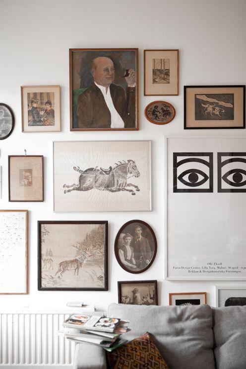 fun gallery wall