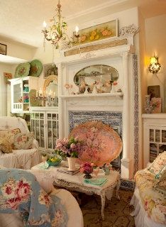 Special Listing For R A Malibu Ca Special Order Victorian Fireplace Screen Shabby Chic Pink