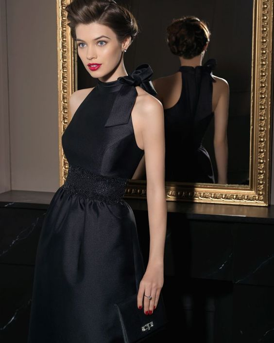 A gorgeous chic black halter from the 2014 bridesmaid dress from ...