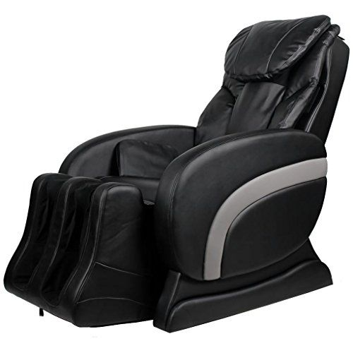 Electric Artificial Leather Recliner Massage Chair Black Massage