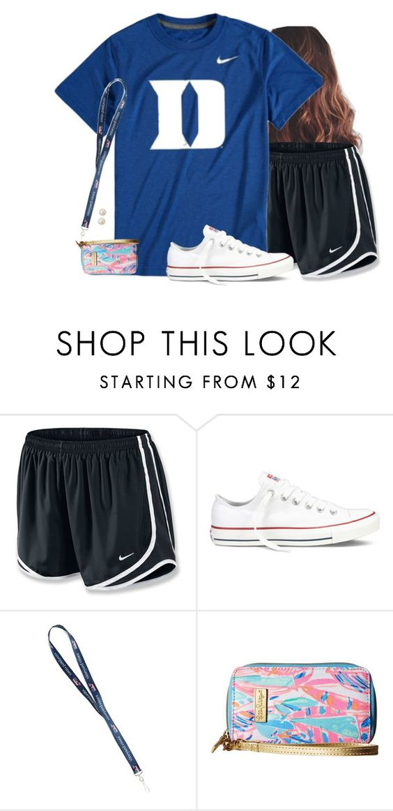 """""""Football game tonight (if the weather clears up)"""" by aweaver-2 on Polyvore featuring NIKE, Converse, Lilly Pulitzer and Honora"""