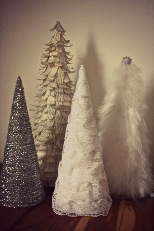 Do it yourself Christmas trees - These would be so easy to make!