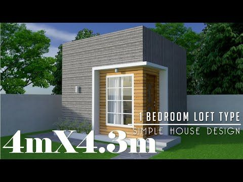 4mx4 3m 17 2sq M Simple Small House Design With 1 Loft Type Bedroom Youtube In 2020 Simple House Design Loft House Design House Design
