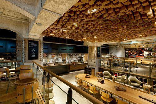 New Starbucks cafe in Amsterdam