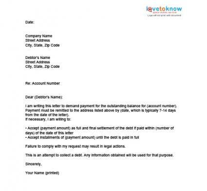 printable sample settlement letter form sample settlement letter