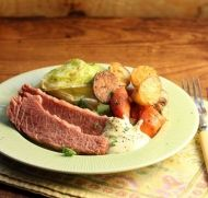 Use your slow cooker, pressure cooker or stove top to cook this recipe for Corned Beef with a tangy sauce
