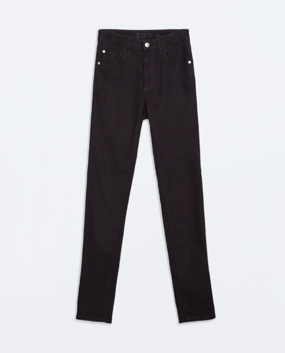 Image 6 of SUPER SKINNY HIGH RISE JEANS from Zara