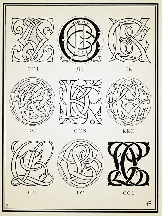 Ccj Ccl Monograms Ciphers Albert Angus Turbayne Monogram Tattoo Initials Logo Design Victorian Lettering