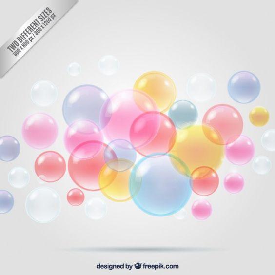Fondo de burbujas de colores Vector Gratis