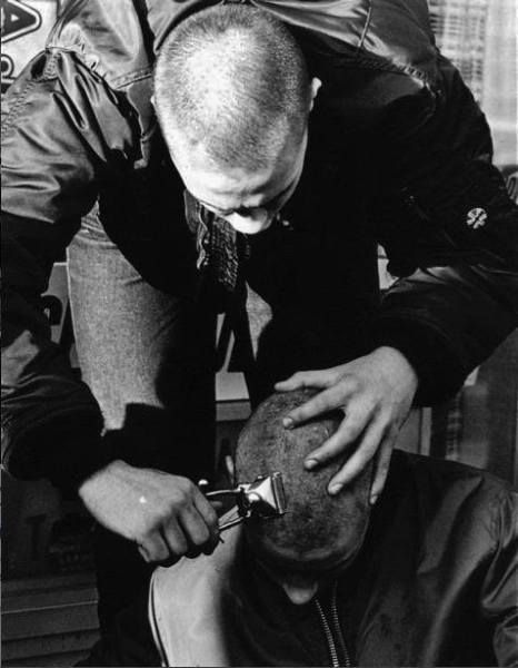 haircut with manual clippers in progress | shaved ...