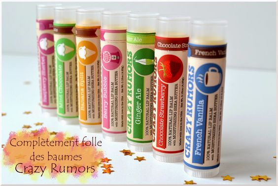 Crazy Rumors, les baumes à lèvres funs et décalés ! http://www.ayanature.com/fr/85-crazy-rumors