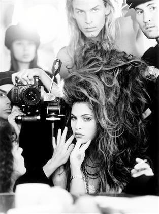 #model #hair #extras #prep #dressing #room