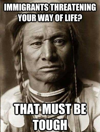 The sacrifice of Native Americans ;; ha this made me giggle :) gotta love the nishnob life x)