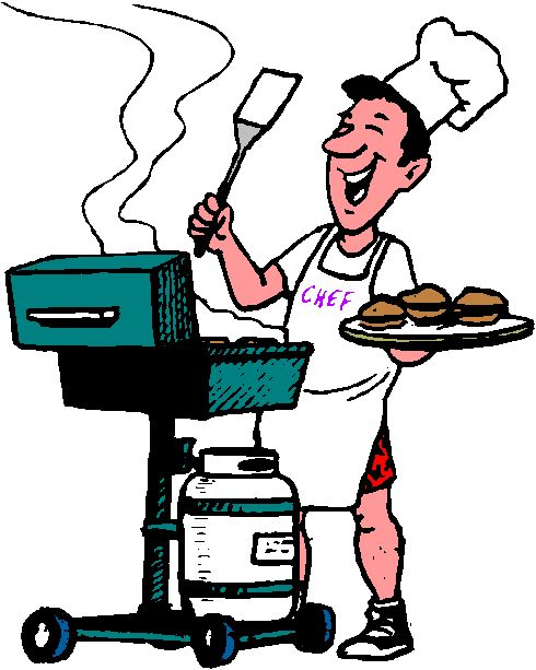 free clipart man grilling - photo #38