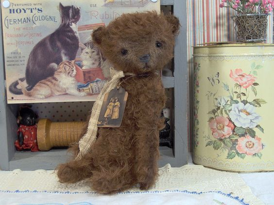 Tippy Primitive Vintage Style Teddy Bear By S Reetzbears Via Flickr #teddy, #teddies, #bears, #toys, #pinsland, https://apps.facebook.com/yangutu