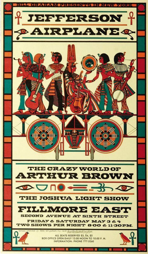 David Byrd, Jefferson Airplane Arthur Brown and Joshua Light Show, 1968