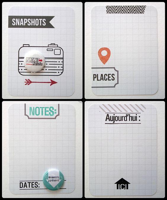 Idées de créations pour cartes Project life