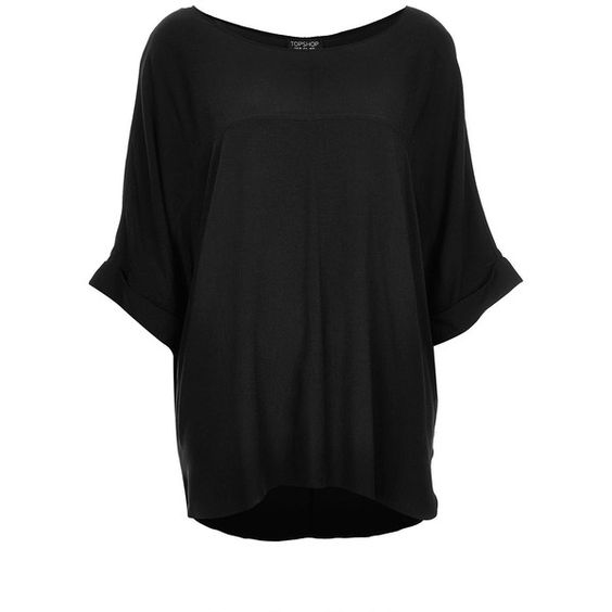TOPSHOP Casual Seam Detail Tee ($64) ❤ liked on Polyvore