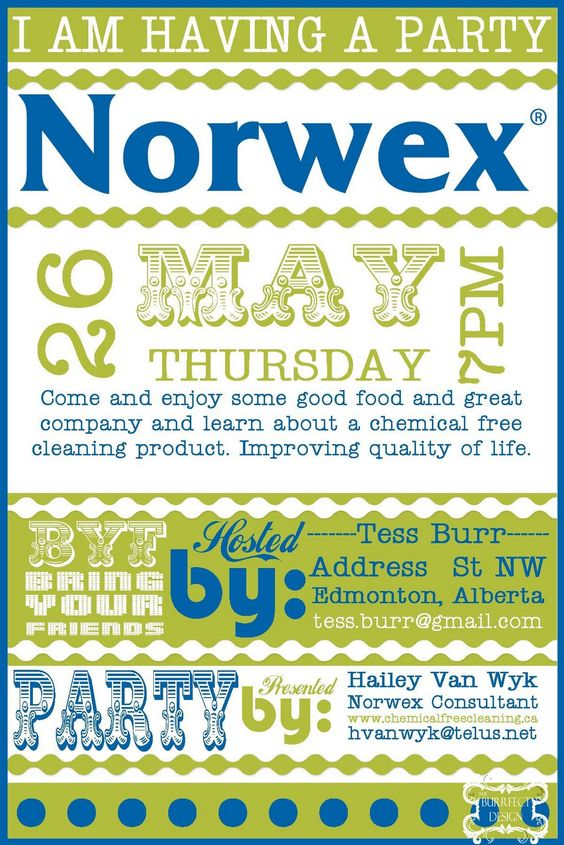 Burrfect Design Norwex Party Invite For Work Pinterest