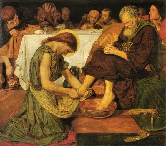 Jesus Washing Peter's Feet, Ford Madox Brown, 1852-6