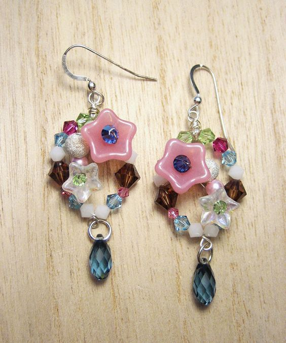 Whimsical+Florals+-+Sterling+Silver,+Rhodium++SWAROVSKI+Crystals+#shoplately
