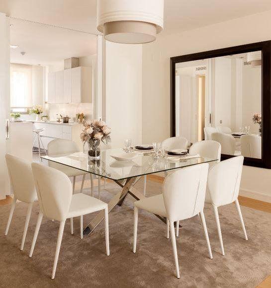 Comedores elegantes y modernos deco living comedor for Deco de living comedor