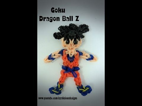 Rainbow Loom GOKU (Dragon Ball Z) figure. Designed and loomed by Kate Schultz of Izzalicious Designs. Click photo for YouTube tutorial. 05/12/14.