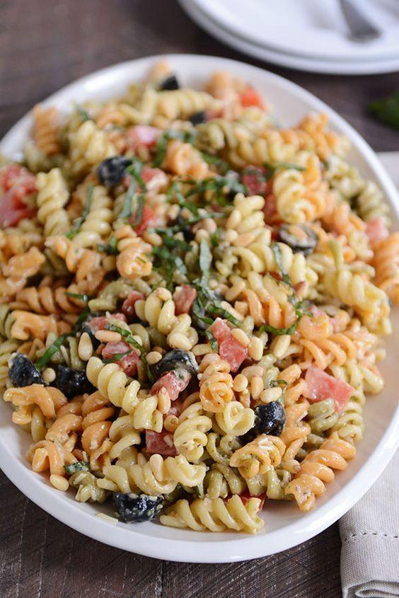 The Best Creamy Pasta Salad Recipe Best Pasta Salad Creamy Pasta Salads Pasta Salad