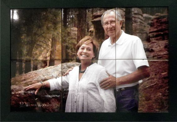 14 5/8″ X 20 5/8″ – Framed Tile Mural Your parents or children come alive and lives in perpetuity - $199.00