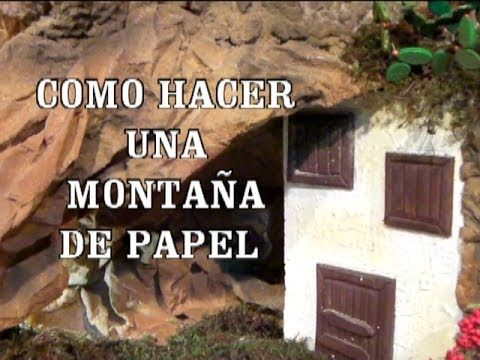 DIY MONTAÑA DE PAPEL CUEVA PARA EL PESEBRE, BELEN