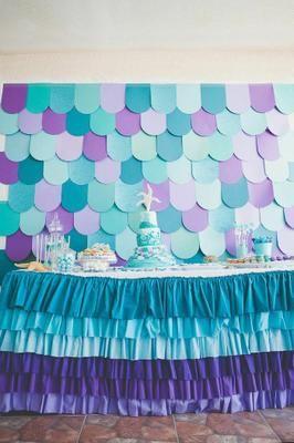 Imágenes para preparar una fiesta infantil basada en la sirenita, todo un acierto.