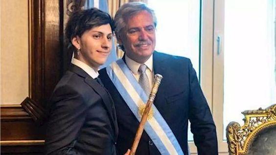 Tani estuvo presente en el acto de asunción de Alberto como presidente