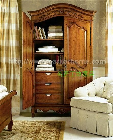 Solid wood furniture, custom solid wood wardrobe American European American  wood wardrobe closet American country